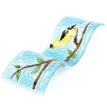 Fused Art Glass Goldfinch Yellow Finch Wavy Decor Sun Catcher Handmade Ecuador image 6