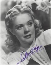 """Alice Faye"" Original Autographed B & W Photograph - (sku#4035) - $49.88"