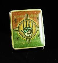 Kokopelli Hamsa Tie tack Vintage Palmistry Fortune Telling Hopi Indian d... - $80.00