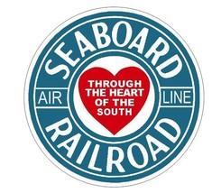 Seaboard Railroad Sticker R7096 Railroad Railway Train Sign YOU CHOOSE SIZE - $1.45+