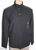 *NEW Men's Alfani Regular Fit Black 1/4 Snaps Mockneck Sweater size M Me... - $8.72