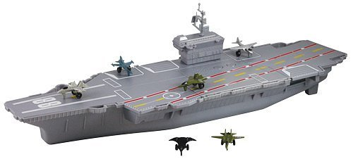 "MotorMax 18"" Aircraft Carrier Playset with Realistic ..."