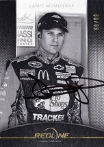 Autographed Jamie Mc Murray 2012 Press Pass Red Line B&W Gold Parallel (#1 Bass... - $44.95