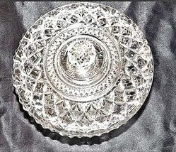 Cut Glass Candy Dish with Detailed Design AA18-11802 Vintage Heavy image 4