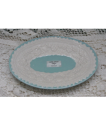 Vintage Look Laura Ashley Blue and White Porcelain Oval Soap Dish //Trin... - $8.75