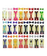 Children Kids Boys & Girls Suspender & Bow tie Matching Colors Set - $4.99+
