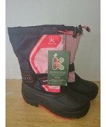 Kamik Kid's Boy's Toddler Snowcoast 3 Boots Gray / Pink  Sz. 7  P7592 - $44.54