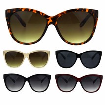 Womens Thick Plasic Oversize Cat Eye Butterfly Sunglasses - $8.95