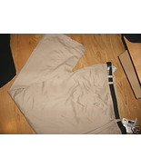 Ladies White Stag DRESS TROUSERS Pants Stretch Flat Front BELT Beige NEW... - $21.99