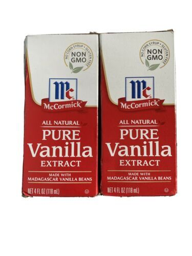 Primary image for 2 McCormick Pure Vanilla Extract 4 fl oz (118 ml) All Natural NON  GMO EXP.2024