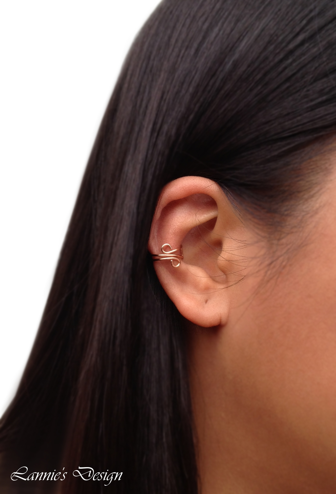 Copper Small Ear Cuff, No Piercing Cartilage Earrings
