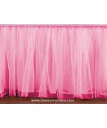 Queen PINK Tulle Ruffled Bed Skirt in any drop length - $75.99+