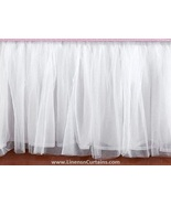 Queen WHITE Tulle Ruffled Bed Skirt in any drop length - $75.99+