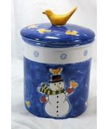Mesa International Snowman Hand Painted Hungarian Pottery Cookie Jar - $25.19