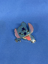 Blue Alien Stitch Sticking Tongue Out Disney Pin - $9.99