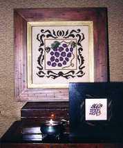 CLEARANCE Grapes cross stitch chart Hollis Designs - $3.00