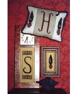 CLEARANCE Topiary II Partridge and Monogram chart Hollis Designs - $3.00