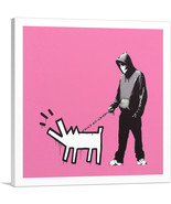 ARTCANVAS Choose Your Weapon Keith Haring Dog - Pink Canvas Art Print by... - $41.99+