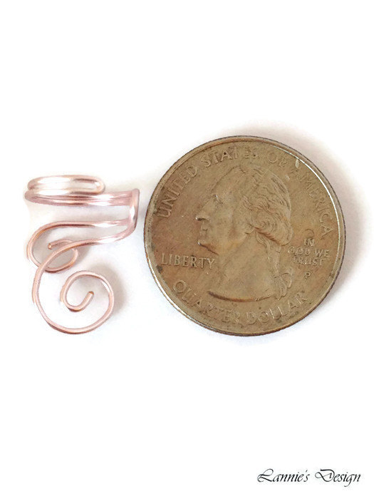 Light Pink Swirl Ear Cuff, No Piercing Cartilage Earring