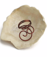 Brown Swirl Ear Cuff, No Piercing Cartilage Earring - $9.90+
