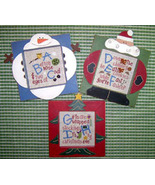 CLEARANCE Winter Alphabet ABC,DEF,GHI stitch chart Mt Forest Framework - $3.00