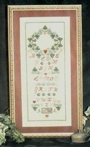 CLEARANCE Ivy and Heart Sampler cross stitch chart Annalee Waite Designs - $3.00