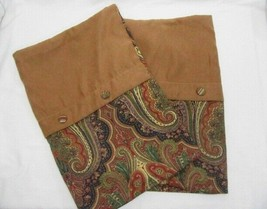 Waverly Set the Mood Paisley Cotton Faux Suede Standard Shams (Set of 2) - $39.00