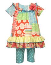 Baby Girls Infant Mix Print Patchwork Knit Dress/Legging Set