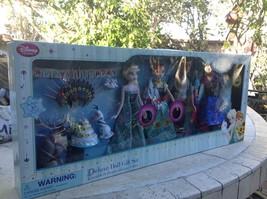 """Disney Store Deluxe 15pc Doll Gift Set Anna Elsa Dolls 11"""" Frozen Fever - $128.69"""
