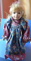 Vintage Porcelain Girl Doll Toy on a metal pedestal stand from collectio... - $26.00
