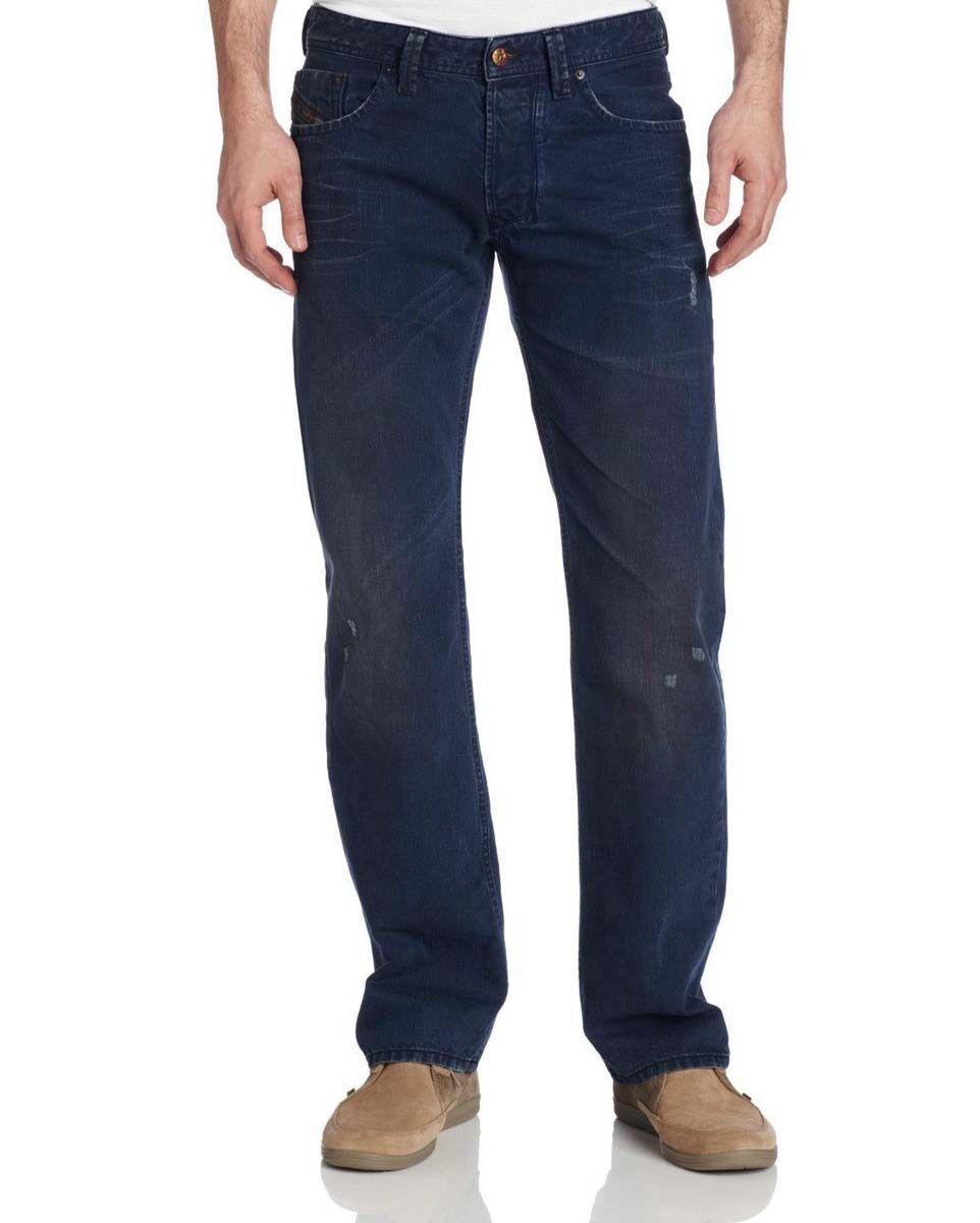 fe80aea2 S l1600. S l1600. Diesel Larkee 0811K Men's Dark Blue Regular Straight  Denim Jeans Trousers 28 30