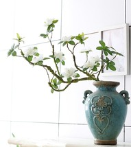 Luxury Azaleas Artificial tree branches white cuckoos long molding stem ... - $19.25