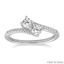 Double CZ Ring with CZ Band - $39.99