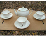 Gladstone bone china old grecian flute teapot cup saucer set thumb155 crop