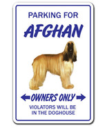 AFGHAN HOUND Novelty Sign dog pet parking signs gift dogs groomer puppy pup - £5.21 GBP