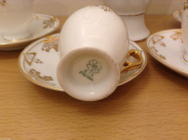 Antique 1910's Fine China Coffee Set White and Gold Secessionist Style PRUSSIAN image 6