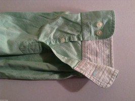 Club Room Men's Size XL Mint Green Button-Down Dress Shirt Striped Lining Detail image 4