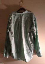 Club Room Men's Size XL Mint Green Button-Down Dress Shirt Striped Lining Detail image 2