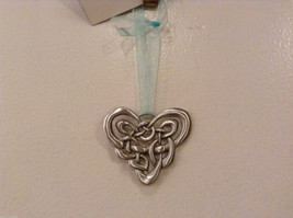 NWT Pewter Metal Handmade Celtic Heart Hanging Ornament Cynthia Webb Handmade