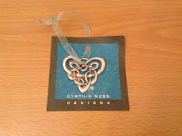 NWT Pewter Metal Handmade Celtic Heart Hanging Ornament Cynthia Webb Handmade image 2