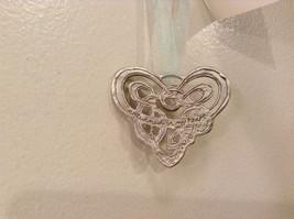 NWT Pewter Metal Handmade Celtic Heart Hanging Ornament Cynthia Webb Handmade image 3