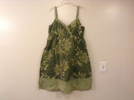 Womens Bass Green Floral Strap Dress Size 14 100% cotton