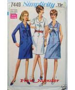 7449 Simplicity Vintage Womens Dress Pattern 1967 UNCUT - $1.99