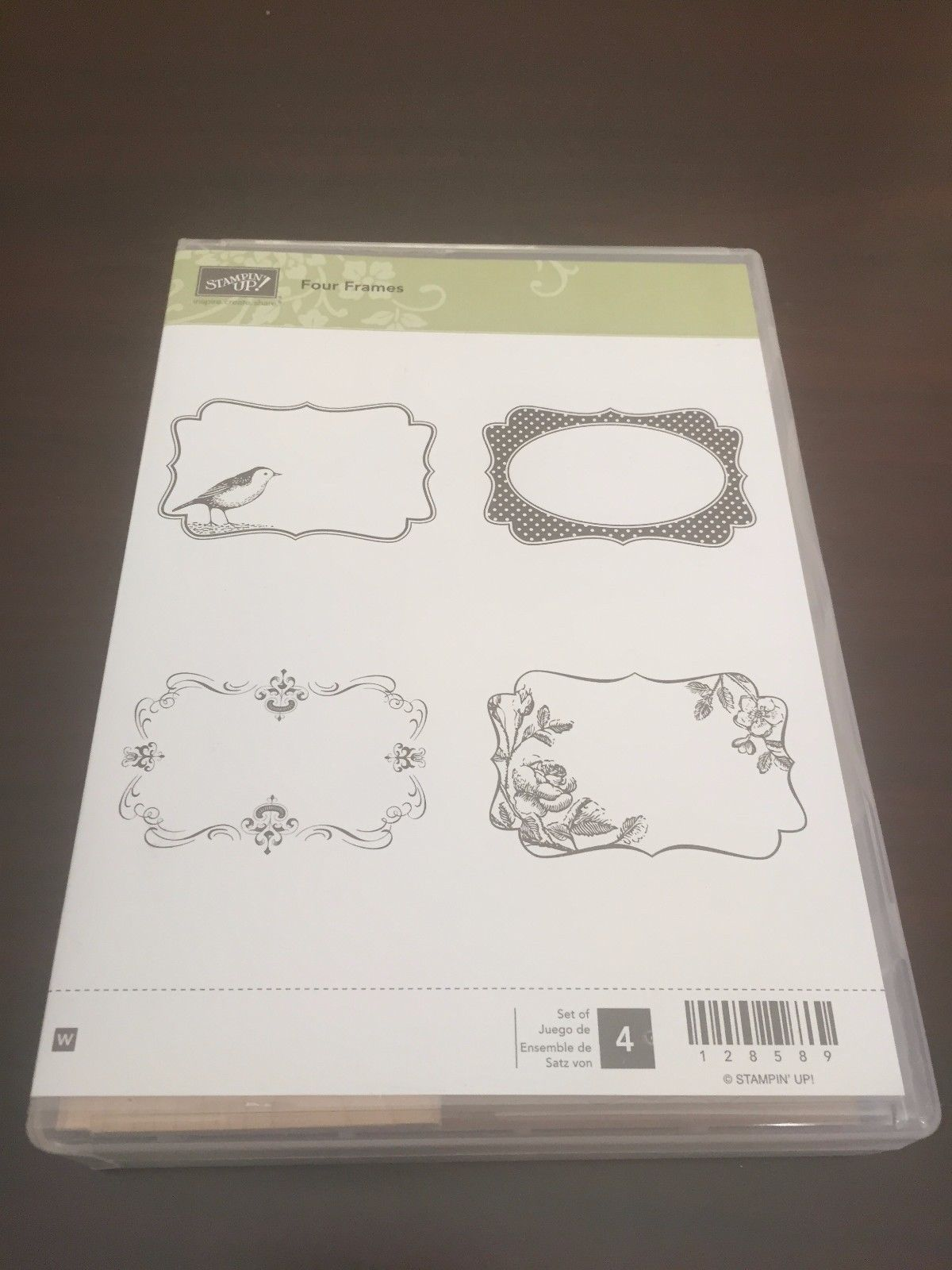 Primary image for Stampin' Up! Four Frames Wood Mount Stamp Set! FREE SAME DAY SHIPPING
