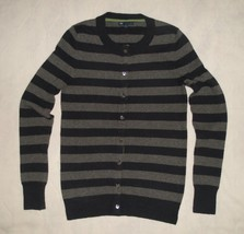 Gap Navy Blue & Gray Cozy Striped Cardigan Sweater Womens Size Small - $23.99