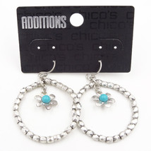 New Pair of Dangle Earrings with Turquoise Bead Flower Drop by Chico's #C1 - $6.44
