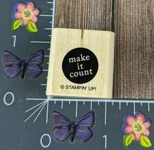 Stampin' Up! Make It Count Rubber Stamp Circle Wood Mount #K17 - $2.48