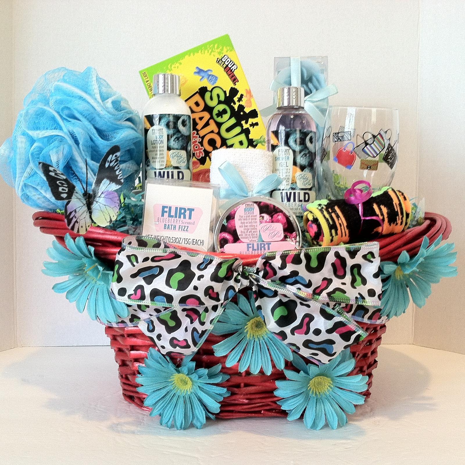 Easter, Birthday, Spa Teen Gift Basket (Blueberry) - Gift ...