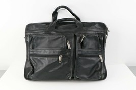 Vintage Tumi Distressed Soft Leather Handled Briefcase Carry On Bag Trav... - $71.23
