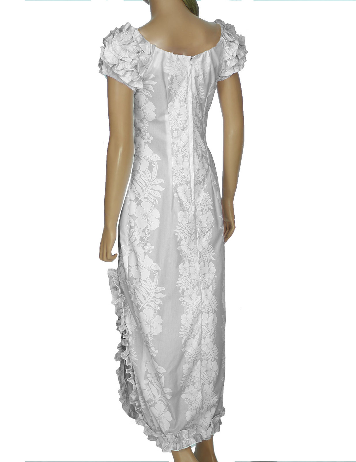 Wedding dress maxi ruffled hawaiian casual hokeo made in for Wedding dresses in the usa